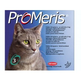 "ProMeris CAT ""S"" (<4kg) - Fort Dodge - 0,8ml x 3 pipete antiparazitare pentru pisici"