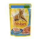 Purina Friskies Cat Adult Cat Somon Ton si Morcovi 100g